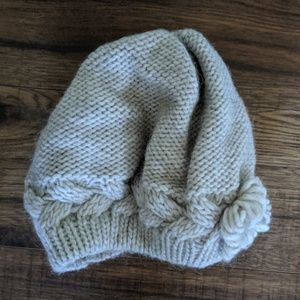 Italian wool/alpaca blend knitted beret BNWT